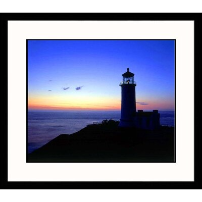 North Head Lighthouse at Sunset Framed Photograph - Jim Corwin