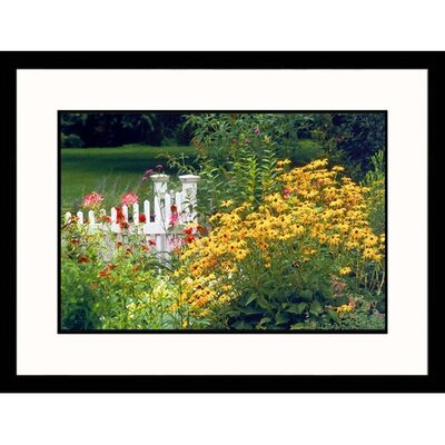 Great American Picture Garden and Fence Framed Photograph