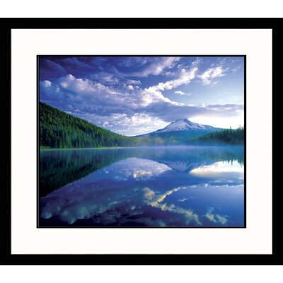 Great American Picture Mt. Hood-Trillium Lake Framed Photograph - Adam Jones