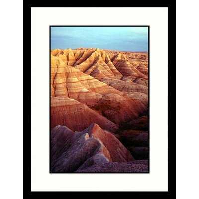 Great American Picture Badlands National Monument, South Dakota Framed Photograph - John Luke