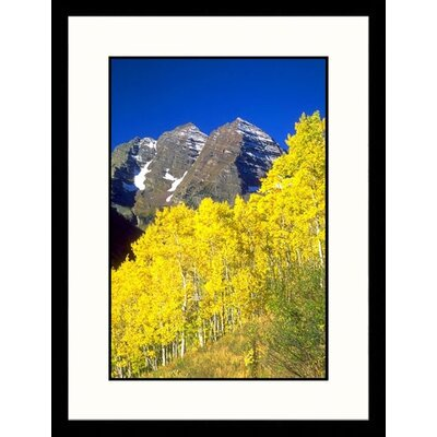 Maroon Bells, White River Forest, Colorado Framed Photograph - Wilson Goodrich