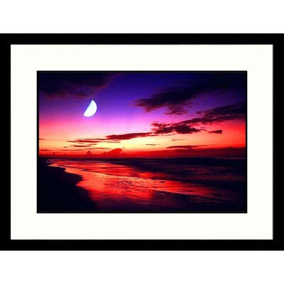 Sunrise and Moon, Las Palmas Island, South Carolina Framed Photograph