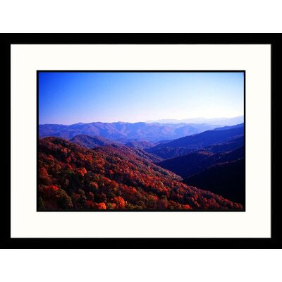 Landscapes 'Mountains in Autumn, Tennessee' by Bob Jacobson Framed Photographic Print