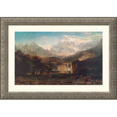 Great American Picture The Rocky Mountains, 1863 Silver Framed Print - Albert Bierstadt