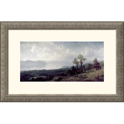 Great American Picture View of the Hudson Looking Across the Tappanzee Silver Framed Print - Albert Bierstadt