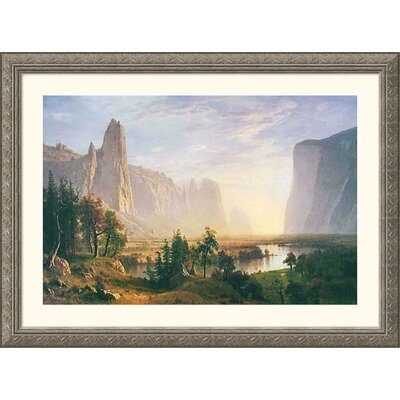 Great American Picture Yosemite Valley Silver Framed Print - Albert Bierstadt