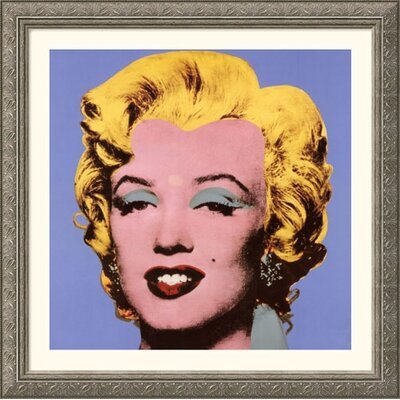 Great American Picture Shot Blue Marilyn, 1964 Silver Framed Print  - Andy Warhol