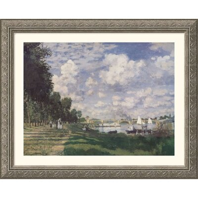 Great American Picture Bassin at Argenteuil, 1874 Silver Framed Print - Claude Monet
