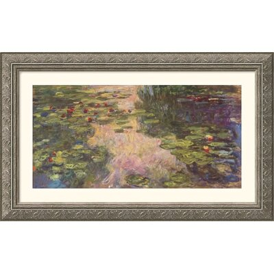 Great American Picture The Water Lily Pond, 1918 II Silver Framed Print - Claude Monet