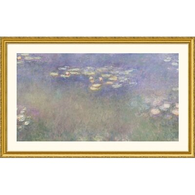 Great American Picture Water Lilies (Nympheas) 1916-26 Gold Framed Print - Claude Monet