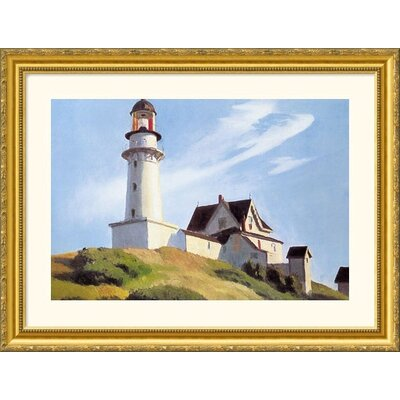 Great American Picture Lighthouse at Two Lights Gold Framed Print - Edward Hopper