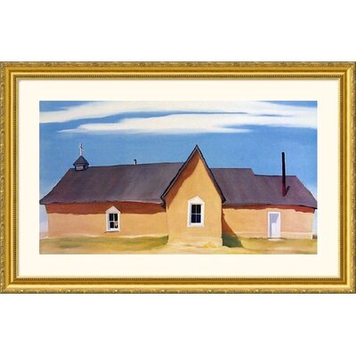 Great American Picture Cebolla Church Gold Framed Print - Georgia O'Keeffe