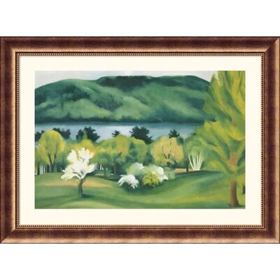 Lake George Early Moonrise Bronze Framed Print - Georgia O'Keeffe