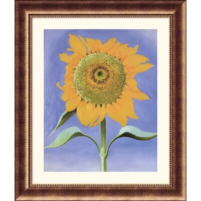 Sunflower, New Mexico, 1935 Bronze Framed Print - Georgia O'Keeffe
