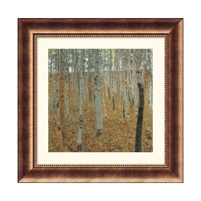 Museum Reproductions 'Birch Forest' by Gustav Klimt Framed Painting Print