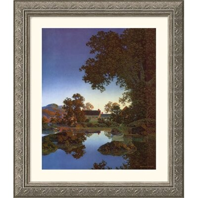 Evening Shadows Silver Framed Print - Maxfield Parrish