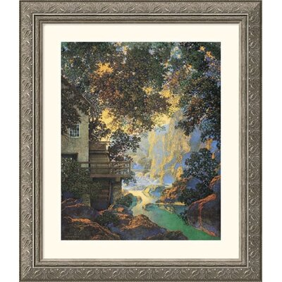 Great American Picture Old Oak Glen Silver Framed Print - Maxfield Parrish