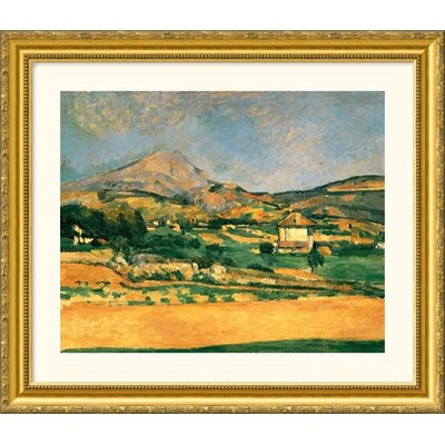 Great American Picture A View Over Mont St. Victoire Gold Framed Print - Paul Cezanne