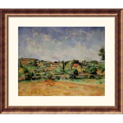 Great American Picture Red Earth Bronze Framed Print - Paul Cezanne