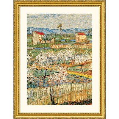 Great American Picture Pechers En Fleurs (Peach trees) Gold Framed Print - Vincent van Gogh