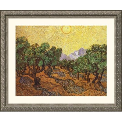 The Olive Trees Silver Framed Print - Vincent van Gogh