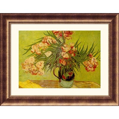 Great American Picture Vases de Fleurs (Vases of Flowers) Bronze Framed Print - Vincent van Gogh