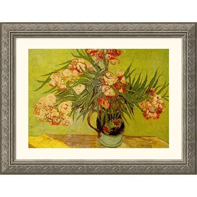 Great American Picture Vases de Fleurs (Vases of Flowers) Silver Framed Print - Vincent van Gogh