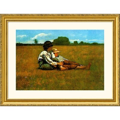 Museum Reproductions 'Boys in a Pasture, 1874' by Winslow Homer Framed Painting Print