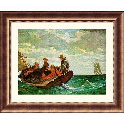 Great American Picture Breezing Up Bronze Framed Print - Winslow Homer