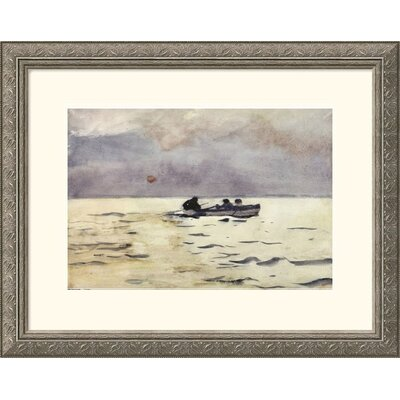Great American Picture Rowing Home Silver Framed Print - Winslow Homer