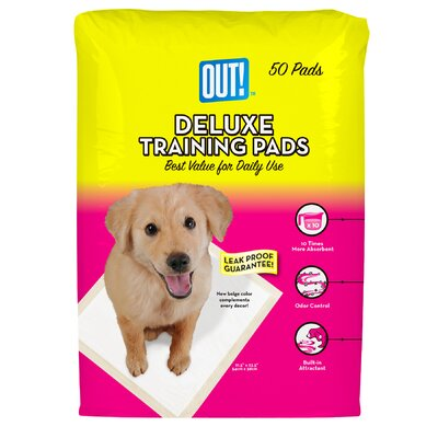 Out Deluxe Dog Training Pad - 50 Count