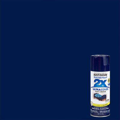 PaintersTouch Painter's Touch® 2X™ 12 Oz Navy Blue Cover Spray Paint Gloss