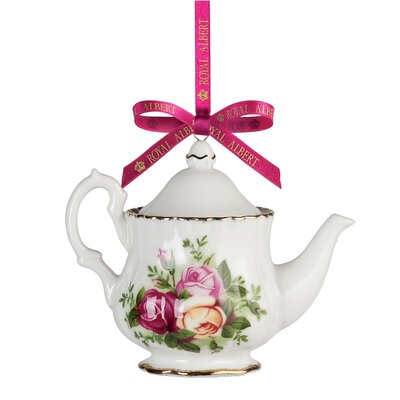 Old Country Roses Teapot Ornament