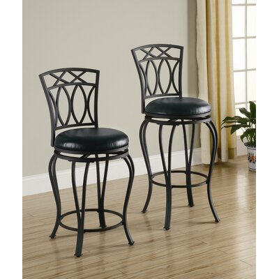 Wildon Home ® Lefors Faux Leather Barstool in Black