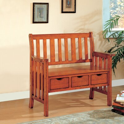 Wildon Home ® Whiteson Wooden Entryway Storage Bench