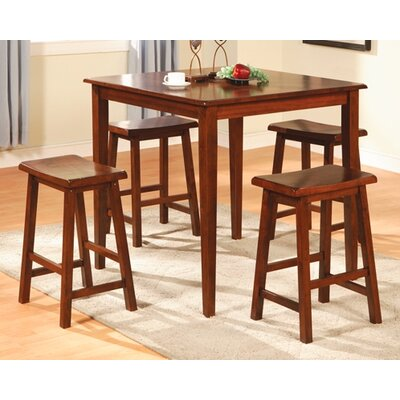 Wildon Home ® Allegany 5 Piece Counter Height Dining Set