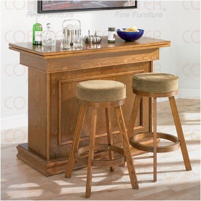 Wildon Home ® Foxton Bar/Game Table Set in Oak