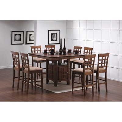 Hartsel 9 Piece Counter Height Dining Set