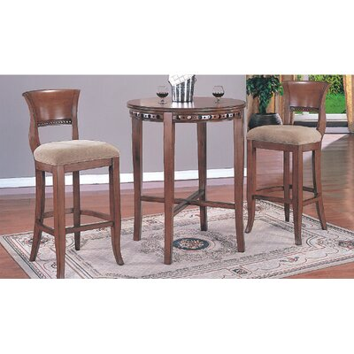 "Wildon Home ® 30"" Regent Bar Stool with Back (Set of 2)"