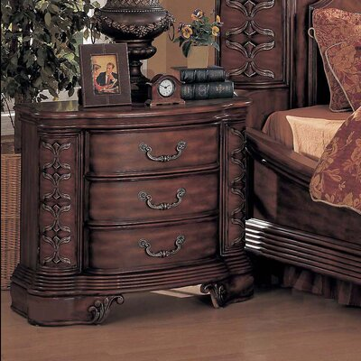 Wildon Home ® Hannah 3 Drawer Nightstand