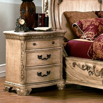 Wildon Home ® Cannes 3 Drawer Nightstand