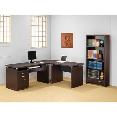Wildon Home ® Bicknell Home Office Bookcase in Dark Cappuccino