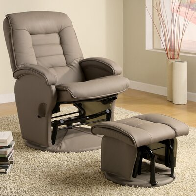 Wildon Home ® Sheraton Recliner & Ottoman in Beige