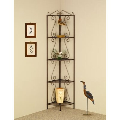 Wildon Home ® 4 Tier Corner Shelf