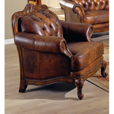Wildon Home ® Valencia Leather Armchair