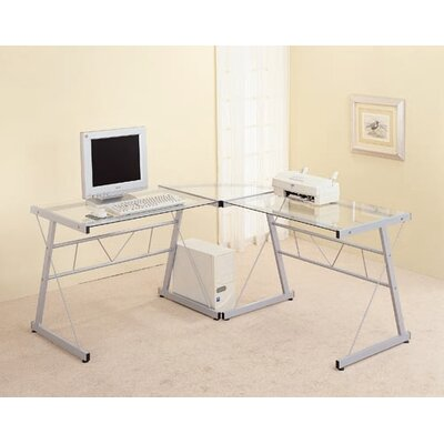 Wildon Home ® Rickreall Glass Computer Desk