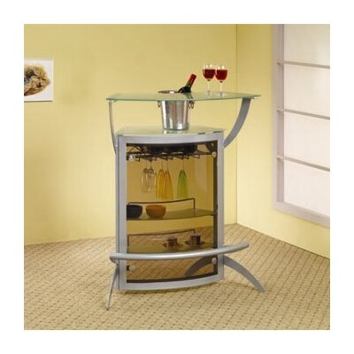 Wildon Home ® Knox Bar Unit in Silver