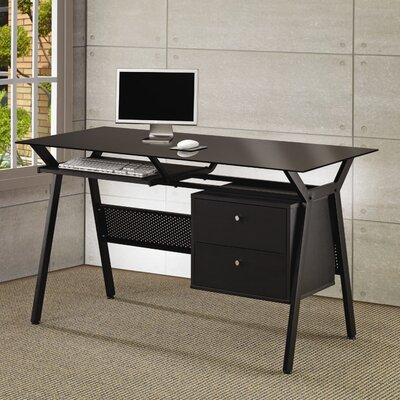Wildon Home ® Hartland Computer Desk with 2 Drawers