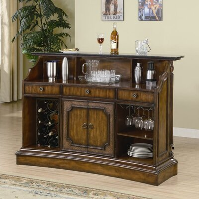 Wildon Home ® Arundel Bar Unit in Warm Medium Wood