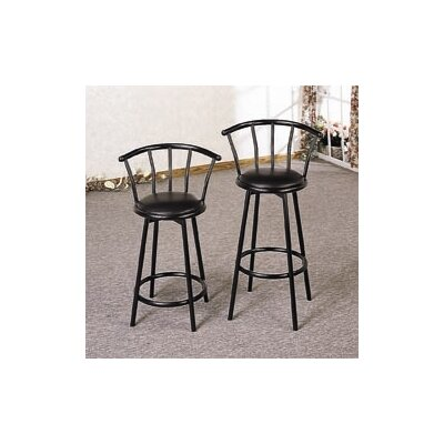 "Wildon Home ® 24"" Bar Stool in Black"